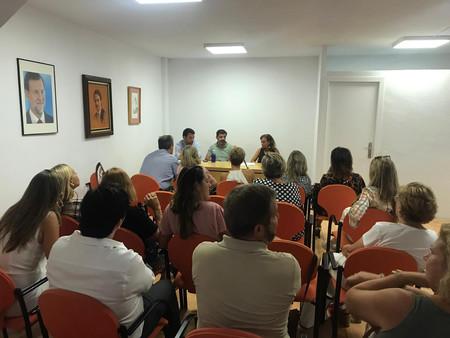 Reunión del comité ejecutivo del partido popular de barajas