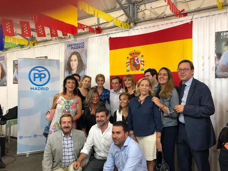 Inauguración de la caseta pp barajas en las fiestas de ntra. sra. de la soledad
