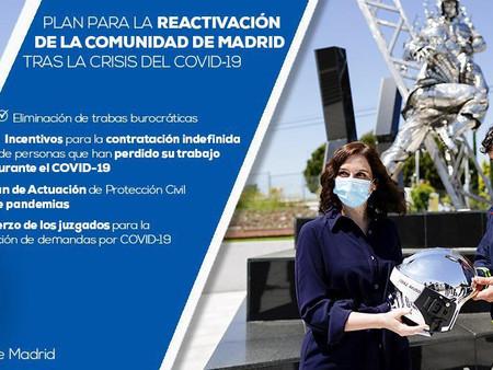 Isabel Díaz Ayuso presenta un ambicioso Plan para la Reactivación tras el COVID-19