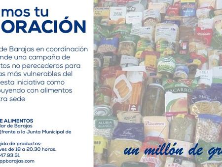 Campaña de Recogida de Alimentos para Familias vulnerables en Barajas