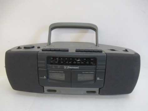 AM/FM/Dual Cassette Boombox (Emerson)