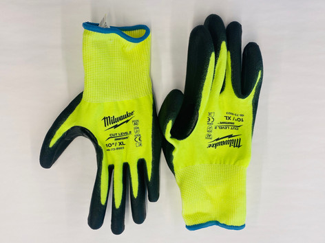 Milwaukee X-Large High-Visibility Cut 2 Resistant Polyurethane Dipped Work Gloves