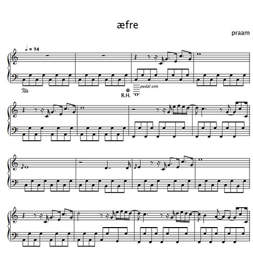 praam - æfre [sheet music]