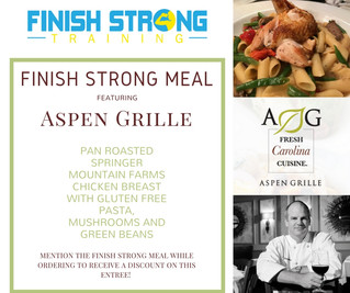 Finish Strong Meal Features: Aspen Grille