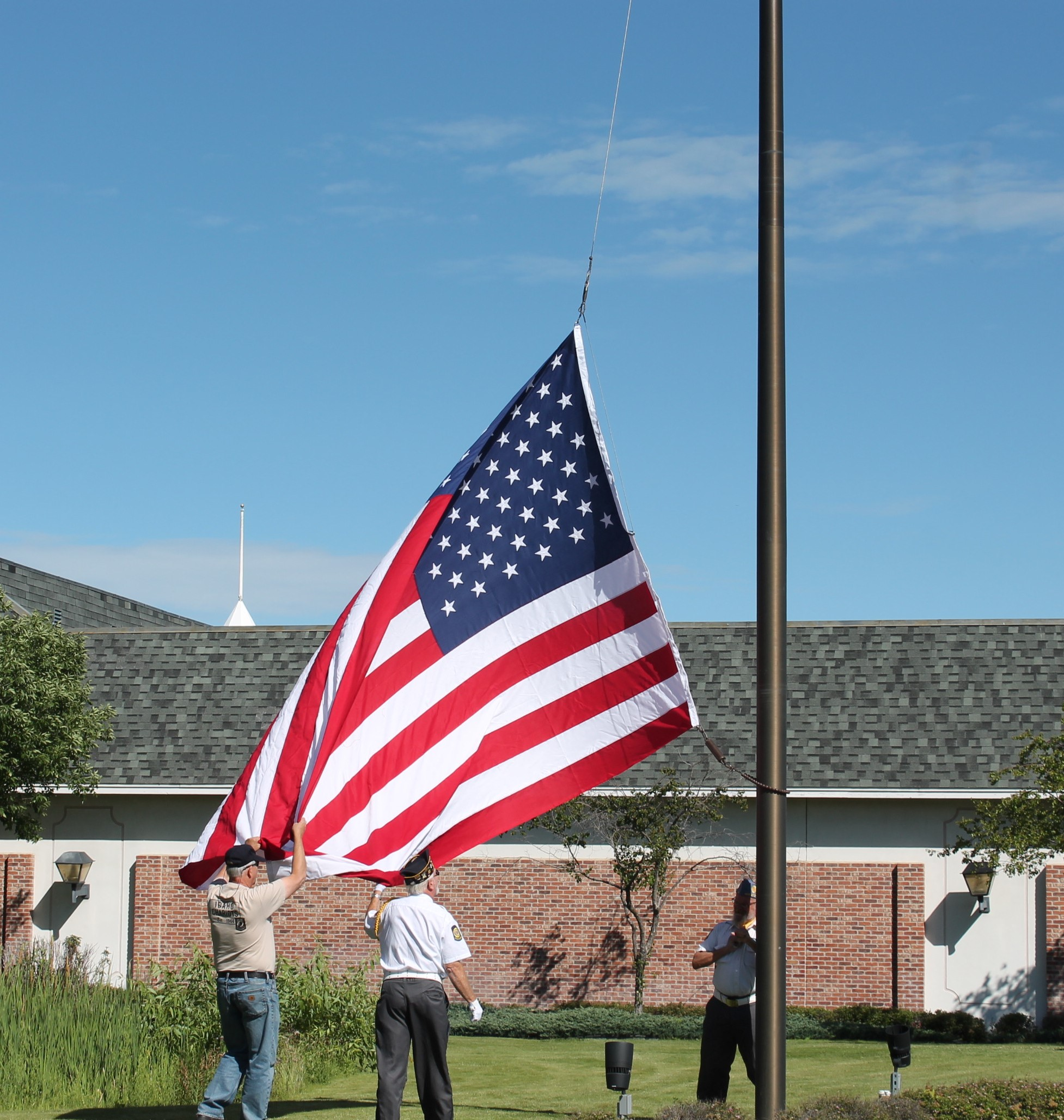 Color Guard Flag Raising at Boise Outlet Mall Flag Dedication 6-18-2016-2