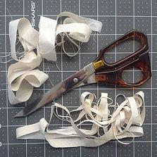 vintage scissors and scraps
