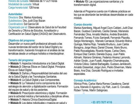 Reunión informativa: Programa de actualización en Salud Digital