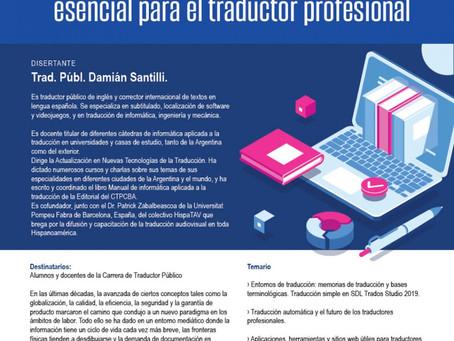 """Evento: """"La tecnología como herramienta de trabajo esencial para el traductor profesional""""."""
