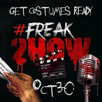 Flyer for the 2nd annual freak show extravaganza