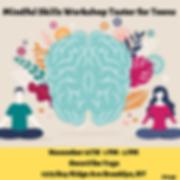 Mindful Skills Workshop Taster for Teens