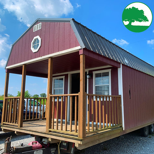 """PRE-OWNED 12' x 36' Painted """"Lofted Cabin"""" """"AS IS"""""""