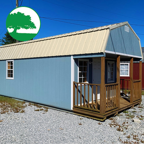 """PRE-OWNED 12' x 32' Painted """"Lofted Cabin"""" """"AS IS"""""""
