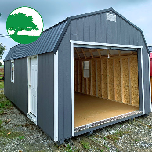 12' x 24' Painted Lofted Garage
