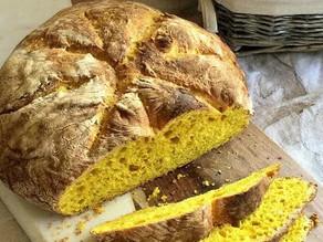 Receta de pan de Cúrcuma