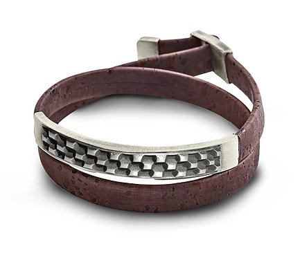 Nevsky Bracelet in Silver and cork