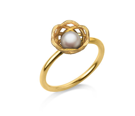 Gregory Baby Ring in Gold with Pearl