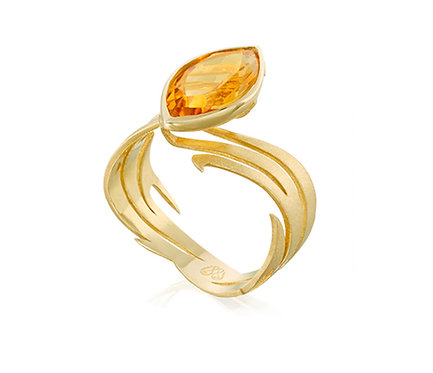 The Power of Fire Ring in Gold with citrine