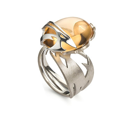 Kayan Ring in Silver or Gold Platead Silver