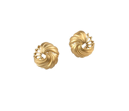 Dome Earring in Gold