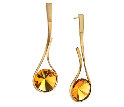 Enlace Earring in Gold three pairs of gems to choose