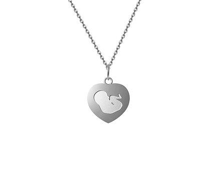 Mãe do Coração Pendant in Silver or Gold Plated Silver