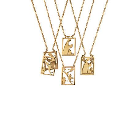 Scapular 2 in 1 - Mary S in Gold