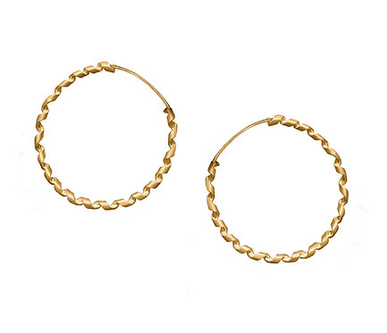 Czar Hoop Earring in Silver or Gold Plated Silver