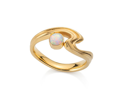 Beauty Ring in Silver or   Gold Plated Silver with Opal