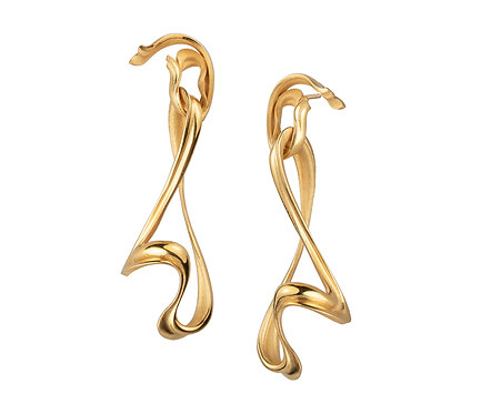 Hijab Earring in Silver or Gold Plated Silver
