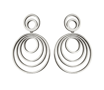 Círculos Earring in Silver or Gold Platead Silver