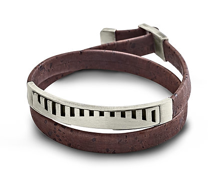 Colinas Bracelet in Silver and cork