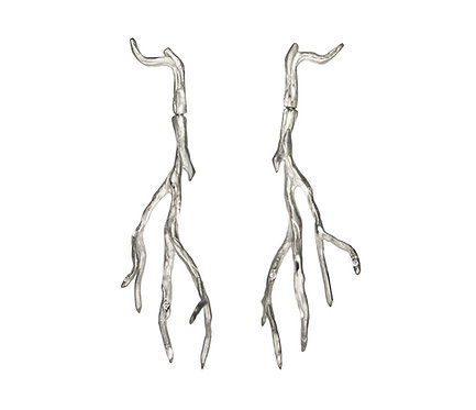 Orvalho Earring in Silver or Gold Plated Silver