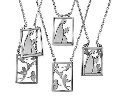 Scapular 2 in 1 - Mary G in Silver or Gold Platead Silver