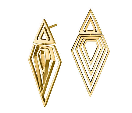 Prisma II Earring in Silver or Gold Platead Silver