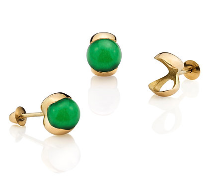 Slip for Kids I Earring in Gold with two (2) pairs of gems (06 mm).