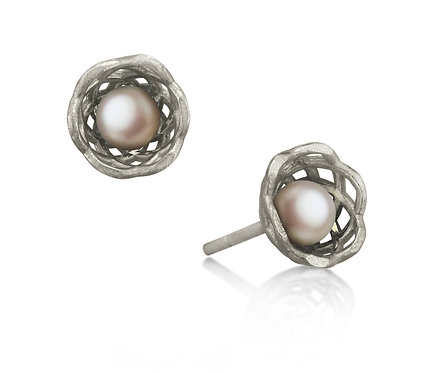 Gregory Baby Earring in Silver or Gold Plated Silver with Pearl