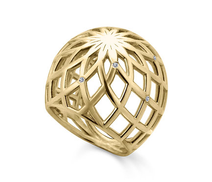 Gregory Ring in Gold with Brillian