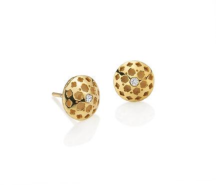 Arabic Earring in  Gold and Diamond