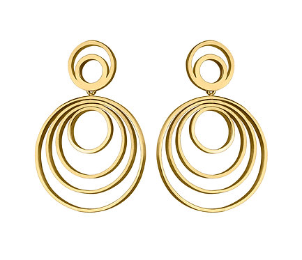 Círculos Earring in Gold