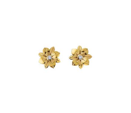 Flower Baby Earring in Gold