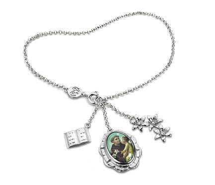 Santo Casamenteiro Bracelet in Silver or Gold Platead Silver