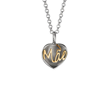 Mãe Pendant in Silver and Gold