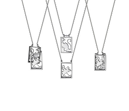 Scapular 2 in 1 - Holy Warrior S in Silver or Gold Platead Silver