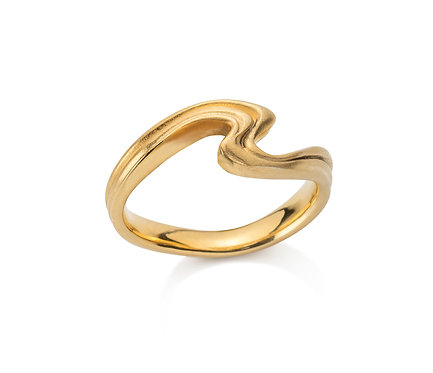 Silk Ring in Silver or Gold Plated Silver