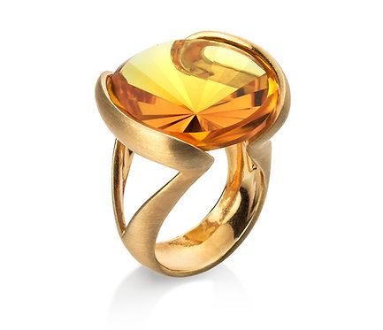 Enlace Ring in Silver or Gold Plated Silver