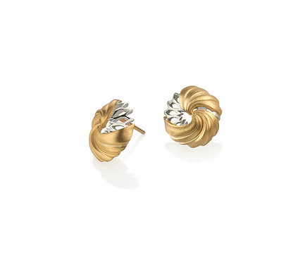 Dome Earring in Silver or Gold Plated