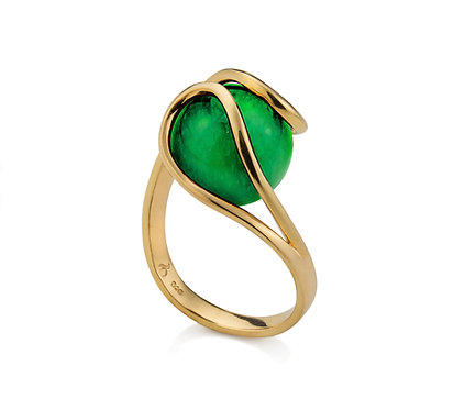 Balanço Ring in Gold with two (2) gemstones of your choice