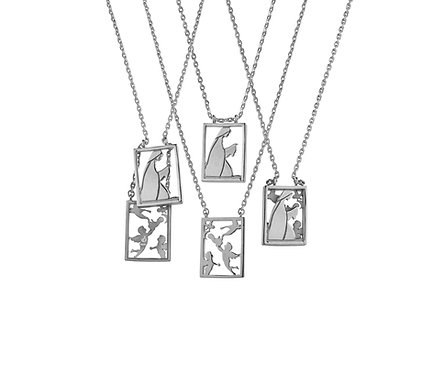 Scapular 2 in 1 - Mary S in Silver or Gold Platead Silver