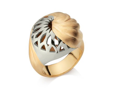 Dome Ring in Silver or Gold Plated Silver