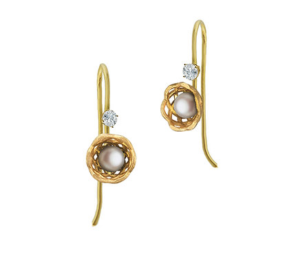 Gregory Baby II Earring in Gold with Pearl